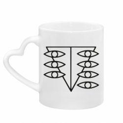 Кружка с ручкой в виде сердца Genesis Evangelion Seele logo