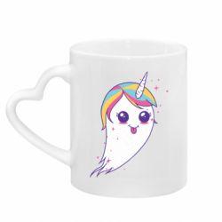 Кружка з ручкою у вигляді серця Ghost Unicorn