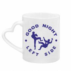 Кружка с ручкой в виде сердца Good Night