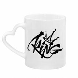 Кружка с ручкой в виде сердца Graffiti king