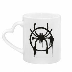 Кружка з ручкою у вигляді серця Graffiti Spider Man Logo