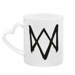Кружка с ручкой в виде сердца Graffiti Watch Dogs logo
