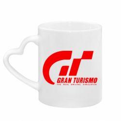 Кружка с ручкой в виде сердца Gran Turismo