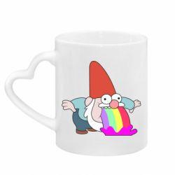 Кружка з ручкою у вигляді серця Gravity Falls, dwarf and rainbow