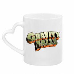 Кружка с ручкой в виде сердца Gravity Falls