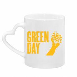 Кружка с ручкой в виде сердца Green Day American Idiot