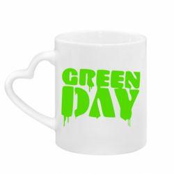 Кружка с ручкой в виде сердца Green Day
