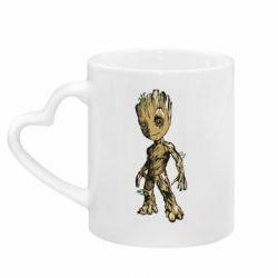 Кружка с ручкой в виде сердца Groot teen