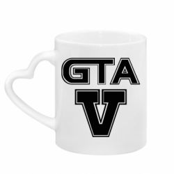 Кружка с ручкой в виде сердца GTA 5