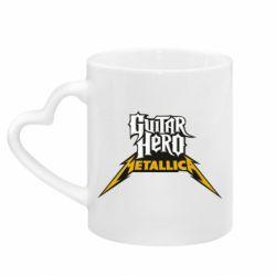 Кружка з ручкою у вигляді серця Guitar Hero Metallica