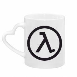 Кружка с ручкой в виде сердца Half Life Logo