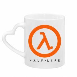 Кружка с ручкой в виде сердца Half-life logotype