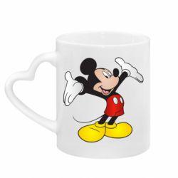 Кружка з ручкою у вигляді серця Happy Mickey Mouse