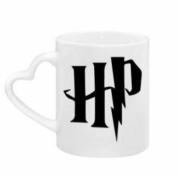 Кружка з ручкою у вигляді серця Harry Potter logo 1