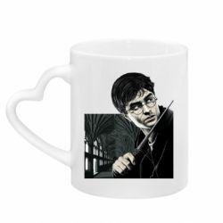 Кружка с ручкой в виде сердца Harry Potter