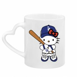 Кружка з ручкою у вигляді серця Hello Kitty baseball