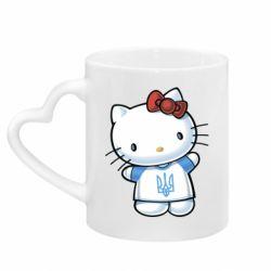 Кружка с ручкой в виде сердца Hello Kitty UA