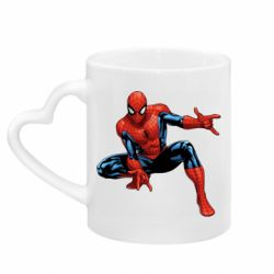 Кружка с ручкой в виде сердца Hero Spiderman