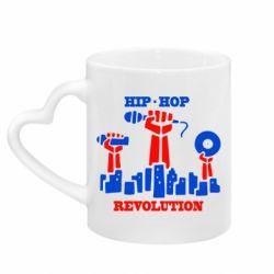 Кружка с ручкой в виде сердца Hip-hop revolution