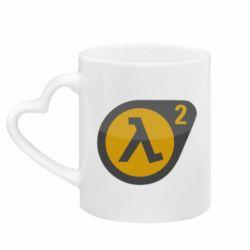 Кружка с ручкой в виде сердца HL 2 logo