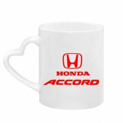 Кружка з ручкою у вигляді серця Honda Accord