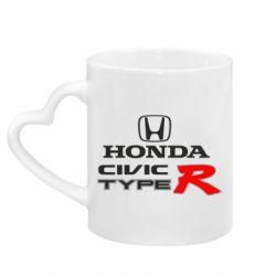 Кружка з ручкою у вигляді серця Honda Civic Type R
