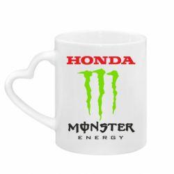 Кружка з ручкою у вигляді серця Honda Monster Energy