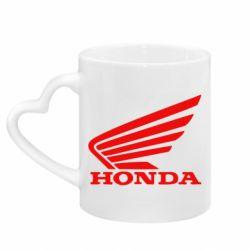Кружка з ручкою у вигляді серця Honda