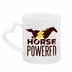 Кружка с ручкой в виде сердца Horse power