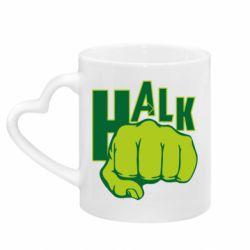 Кружка с ручкой в виде сердца Hulk fist