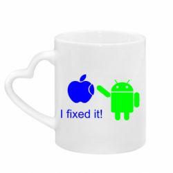 Кружка з ручкою у вигляді серця I fixed it! Android