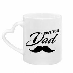 Кружка з ручкою у вигляді серця I Love Dad