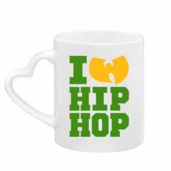 Кружка з ручкою у вигляді серця I love Hip-hop Wu-Tang