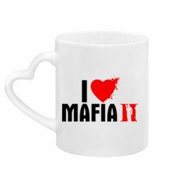 Кружка с ручкой в виде сердца I love Mafia 2