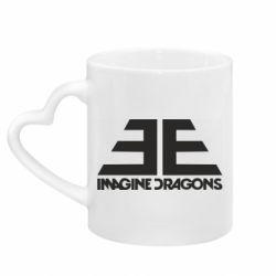 Кружка с ручкой в виде сердца Imagine Dragons Evolve simbol