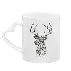 Кружка з ручкою у вигляді серця Imprint of human skin in the form of a deer