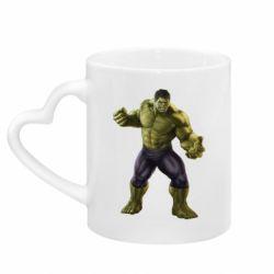 Кружка з ручкою у вигляді серця Incredible Hulk 2