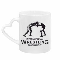 Кружка з ручкою у вигляді серця International Tournament Wrestling