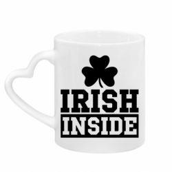 Кружка с ручкой в виде сердца Irish Inside