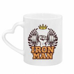 Кружка з ручкою у вигляді серця Iron man and sports