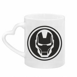 Кружка з ручкою у вигляді серця Iron man symbol