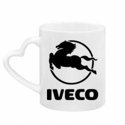Кружка с ручкой в виде сердца IVECO