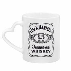 Кружка з ручкою у вигляді серця Jack daniel's Whiskey