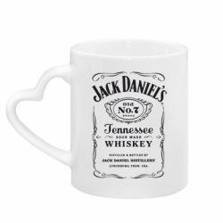 Кружка с ручкой в виде сердца Jack Daniel's
