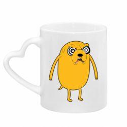 Кружка з ручкою у вигляді серця Jake from  Adventure Time