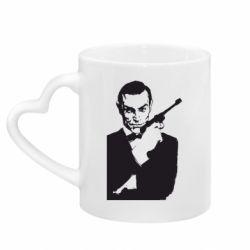 Кружка з ручкою у вигляді серця James Bond