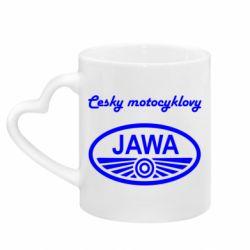 Кружка з ручкою у вигляді серця Java Cesky Motocyclovy