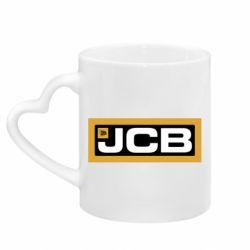 Кружка з ручкою у вигляді серця Jgb logo2