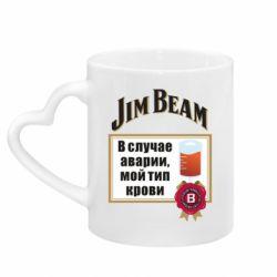 Кружка з ручкою у вигляді серця Jim beam accident