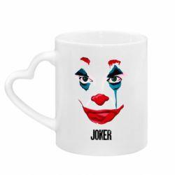 Кружка с ручкой в виде сердца Joker face